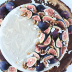 Raw White Chocolate Fig & Cardamom Cheesecake